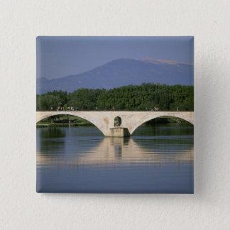 Europe, France, Provence, Avignon. Pont St, 15 Cm Square Badge