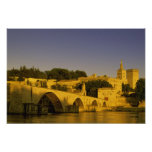 Europe, France, Provence, Avignon. Pont St, 2 Print