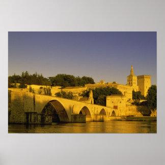 Europe, France, Provence, Avignon. Pont St, 2 Poster