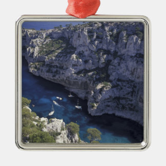 Europe, France, Provence, Calanques. Limestone Christmas Ornament
