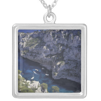 Europe, France, Provence, Calanques. Limestone Silver Plated Necklace