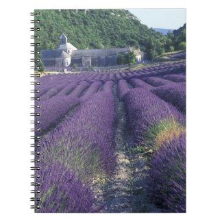 Europe, France, Provence. Lavander fields Spiral Notebook