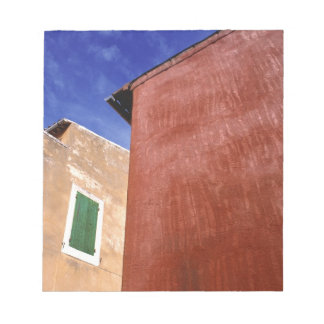 Europe, France, Roussillon. Colorful walls are Notepads