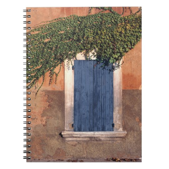 Europe, France, Roussillon. Ivy covers the wall Notebooks