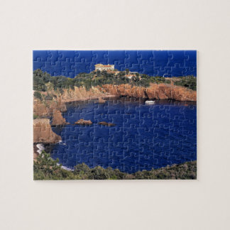Europe, France, Theoule-sur-Mer. A tile-roofed Jigsaw Puzzle