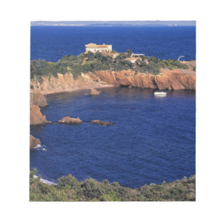 Europe, France, Theoule-sur-Mer. A tile-roofed Notepad