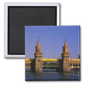 Europe, Germany, Berlin. Kreuzberg, Oberbaum Refrigerator Magnet