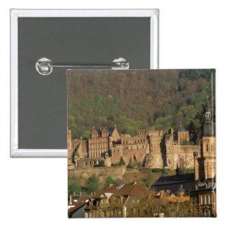 Europe, Germany, Heidelberg. Castle 15 Cm Square Badge