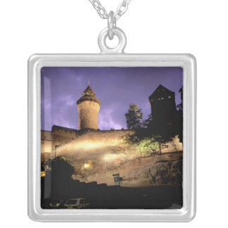 Europe, Germany, Numberg, Imperial Castle Silver Plated Necklace