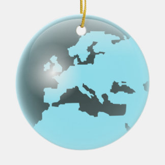 Europe Glass Globe Christmas Ornament