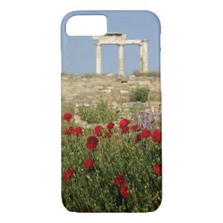 Europe, Greece, Cyclades, Delos. Column ruins. 2 iPhone 7 Case