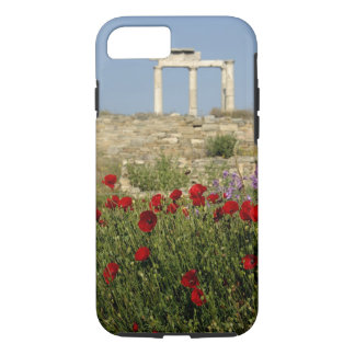 Europe, Greece, Cyclades, Delos. Column ruins. 2 iPhone 8/7 Case