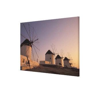 Europe, Greece, Cyclades Islands, Mykonos, Stretched Canvas Print