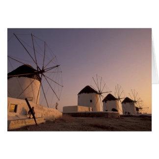 Europe, Greece, Cyclades Islands, Mykonos, Card