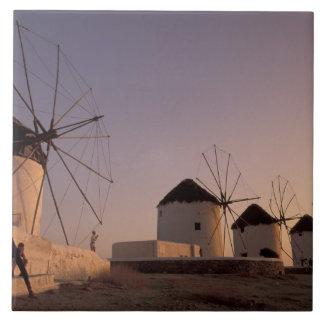 Europe, Greece, Cyclades Islands, Mykonos, Tile