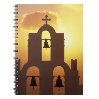 Europe, Greece, Cyclades Islands, Santorini, Spiral Notebook