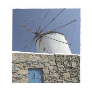 Europe, Greece, Mykonos. 2 Notepad