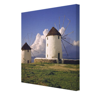 Europe, Greece, Mykonos. White-washed Canvas Print