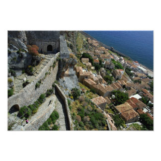 Europe, Greece, Peloponnese, Monemvasia Photo Print