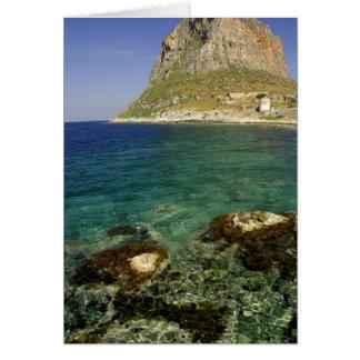 Europe, Greece, Peloponnese, Monemvasia. The Card