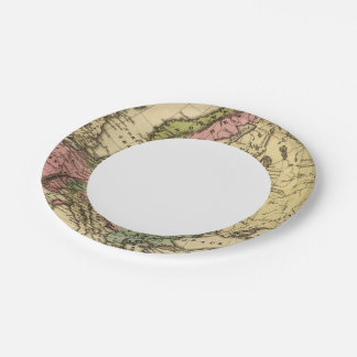 Europe Hand Colored Atlas Map 2 7 Inch Paper Plate