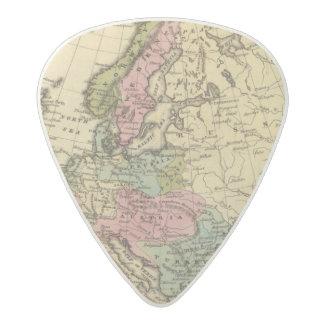 Europe Hand Colored Atlas Map 2 Acetal Guitar Pick