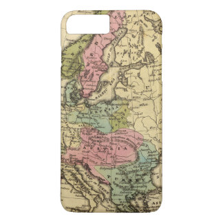 Europe Hand Colored Atlas Map 2 iPhone 8 Plus/7 Plus Case