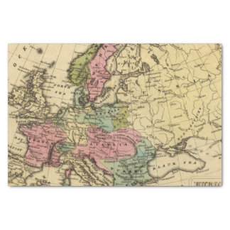 Europe Hand Colored Atlas Map 2 Tissue Paper