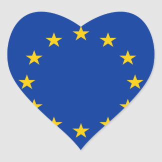 europe heart sticker