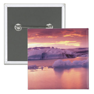 Europe, Iceland, Jokulsarlon lagoon 15 Cm Square Badge