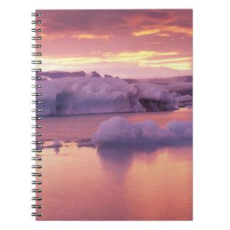 Europe, Iceland, Jokulsarlon lagoon Spiral Notebook