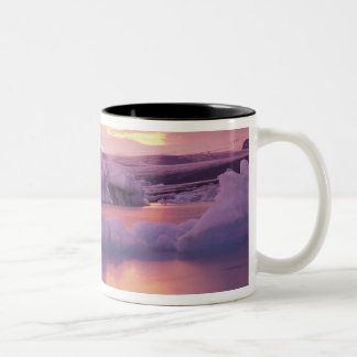 Europe, Iceland, Jokulsarlon lagoon Two-Tone Coffee Mug