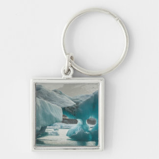 Europe, Iceland, JokUSArlon. Iceberg Formations Key Ring