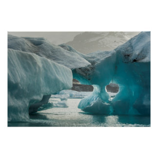 Europe, Iceland, JokUSArlon. Iceberg Formations Poster
