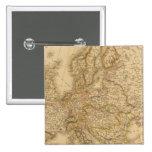 Europe in 1789 15 cm square badge