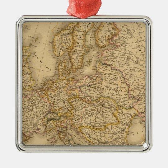 Europe in 1789 Silver-Colored square decoration