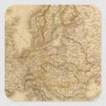 Europe in 1789 square stickers