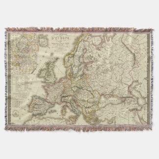 Europe in 1813 2 throw blanket