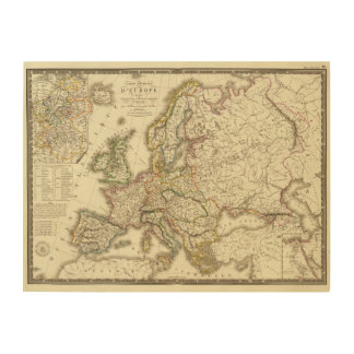 Europe in 1813 2 wood canvas