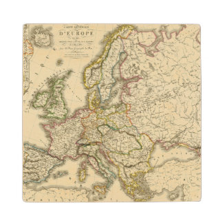 Europe in 1813 2 wood coaster