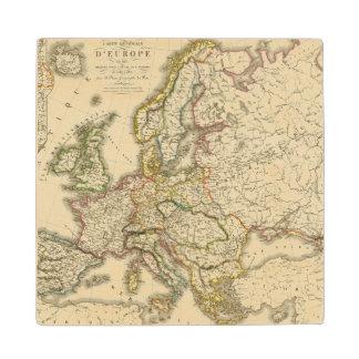 Europe in 1813 2 wood coaster