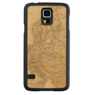 Europe in 1813 carved maple galaxy s5 case