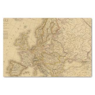 Europe in 1813 tissue paper