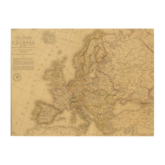 Europe in 1813 wood wall art
