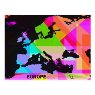 Europe in colour - a postcard