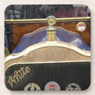 Europe, Ireland, Dublin. Vintage auto, White 2 Beverage Coasters