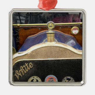 Europe, Ireland, Dublin. Vintage auto, White 2 Christmas Ornament