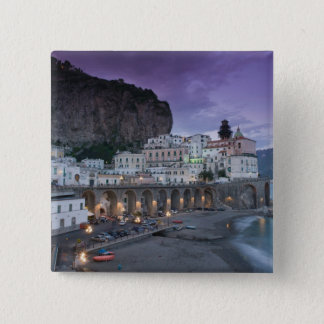 Europe, Italy, Campania (Amalfi Coast) Atrani: 15 Cm Square Badge