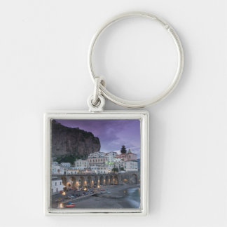 Europe, Italy, Campania (Amalfi Coast) Atrani: Silver-Colored Square Key Ring