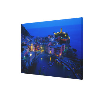 Europe, Italy, Cinque Terre, Vernazza. Hillside Canvas Print